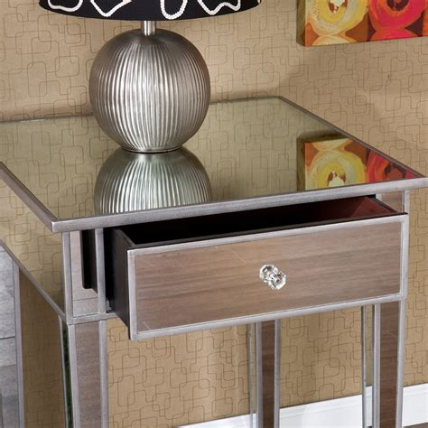Affordable Mirrored Nightstand Mirror Tables Black Nightstand Silver Nightstands Unique Deration With Silver Nightstand