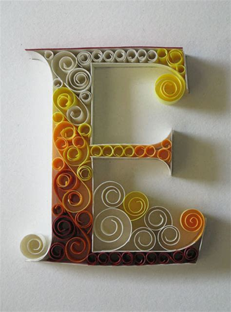 How To Make Paper Quilling Letters - an alphabet of ornate quilled typography