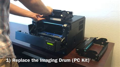 resetting dell printer dell 2330d 2330dn printer how to replace and reset the