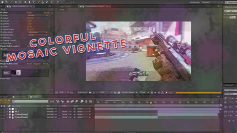 Tutorial After Effects Mosaic   colorful mosaic vignette tutorial after effects tutorial