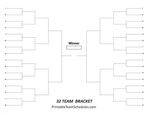 8 best tournament brackets free printable brackets