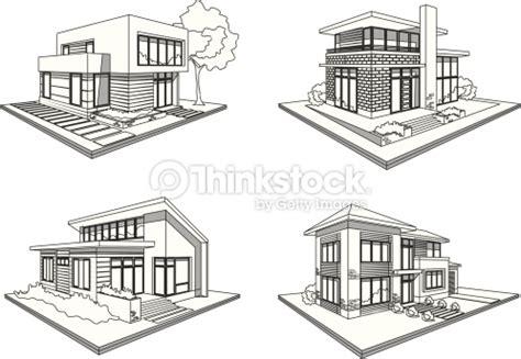 house drawing for colouring modern house quatre maisons modernes ic 244 nes de croquis de demeures