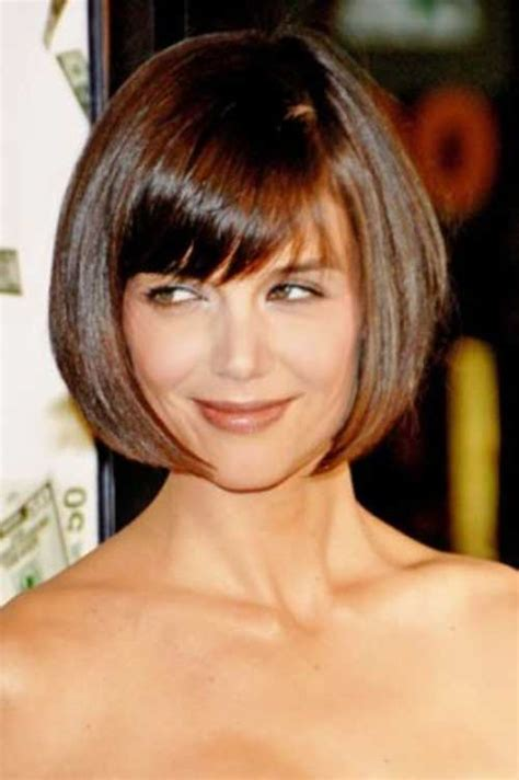 haircut tips for thin hair 15 katie holmes bob with bangs bob hairstyles 2017
