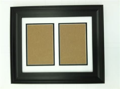black picture frames with white matting 16x20 black frame with white black double picture mat for
