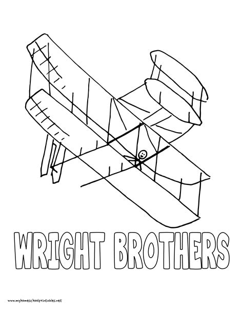 wright brothers plane coloring coloring pages