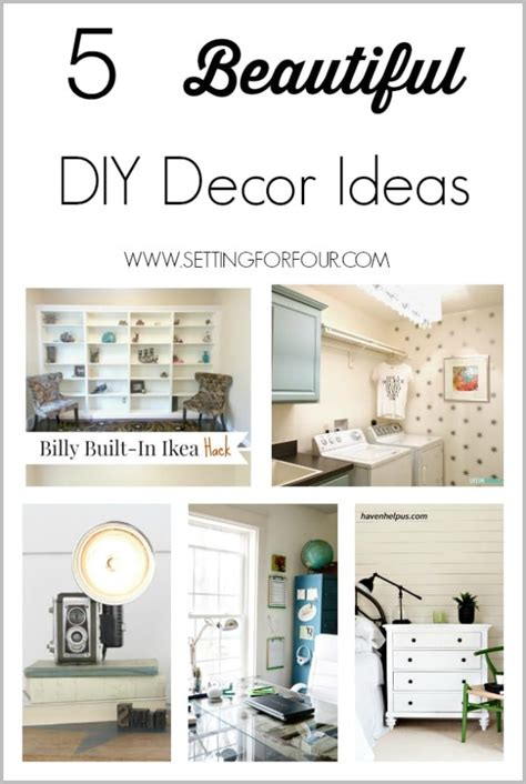 5 Beautiful Diy Decor Ideas Setting For Four Diy Laundry Room Decor