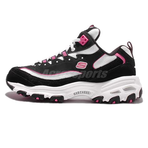 Nagita Black Pink Sneaker Shoes skechers d lites d liteful black pink womens running shoes