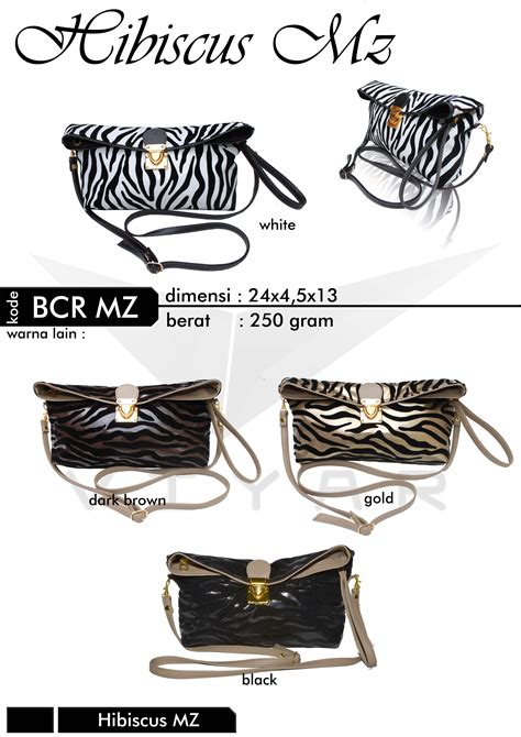 Ransel Clutch Brown dompet clutch selempang motif zebra untuk remaja putri