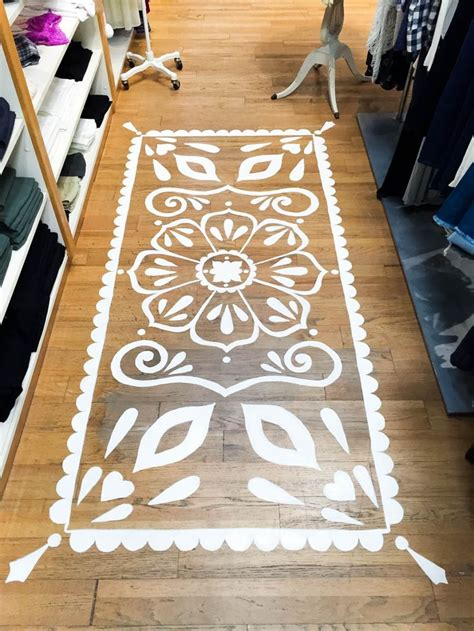 Decorative Floor Painting Ideas Decor Hacks Mandala Floor Painting At Ooh La Loft By Harvey Decors Ideas Home Of