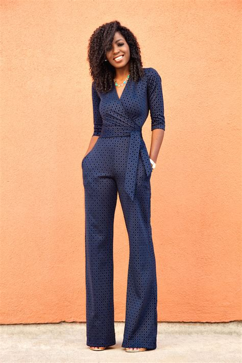 hairstyles to do with jumpsuit style pantry navy diamond print jumpsuit