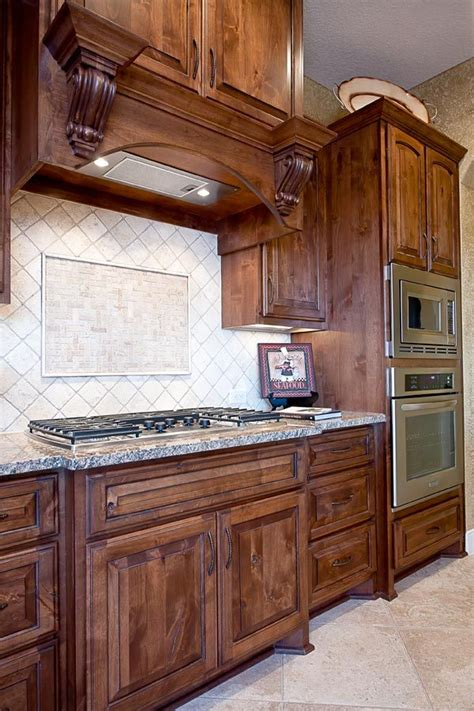 knotty alder wood cabinets home