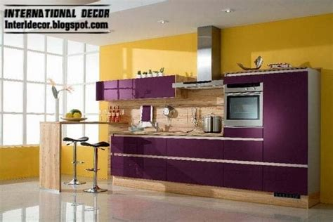 purple kitchen interior design and contemporary kitchen design 2014
