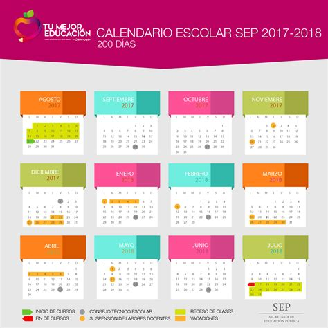 Calendario 2018 Mexico Sep Calendario Oficial Sep 2017 2018 Tres Versiones