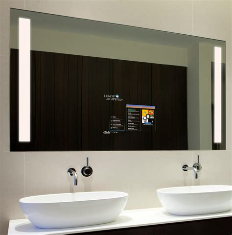 electric mirrors bathroom smart mirror for hospitality market allows control connection