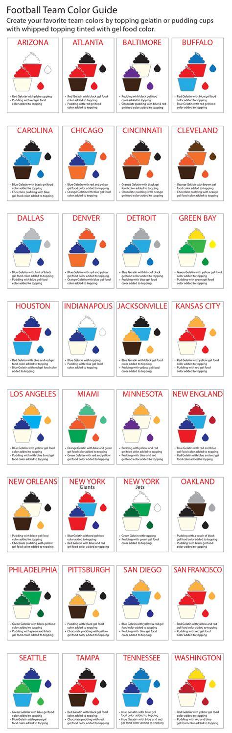 nfl team colors chart nfl football teams colors