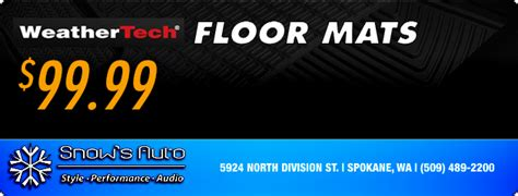 Coupons For Weathertech Floor Mats by Spokane Wa Vehicle Aftermarket Sound Performance Parts