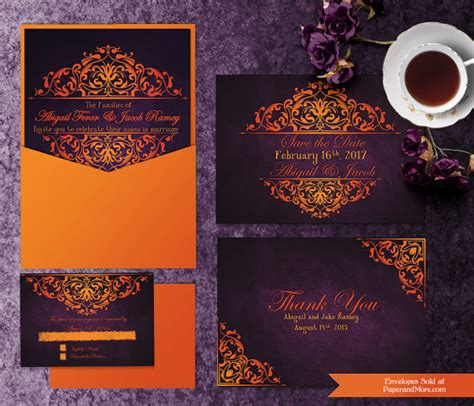 printable halloween wedding invitation templates invitation