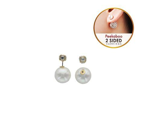 Rhinestone Cube Earrings rhinestone cube peekaboo earrings best of everything