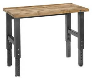 Adjustable Height Work Table 4 Maple Adjustable Height Work Bench Adjusts To Your