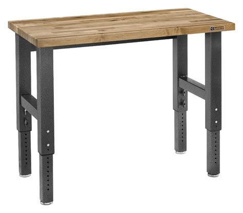 work tables and benches 4 maple adjustable height work bench adjusts to your