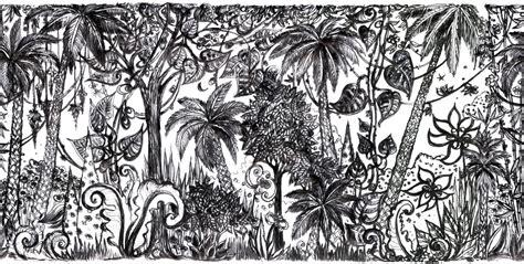 Tapisserie Noir by Tapisserie Jungle Noir Blanc Les Ateliers D Aubusson