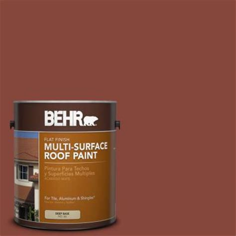 behr 1 gal rp 26 tile flat multi surface roof paint 06601 the home depot