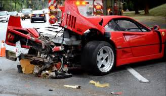 F40 Crash F40 Crash In Vancouver Is Sad To See