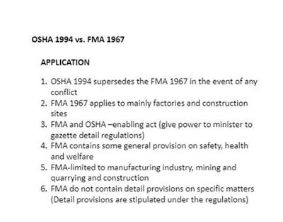 osha section 5 a 1 osh the journey osha 1994 section 2 prevailing laws