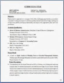 Mba Resume Exles by Resume Templates
