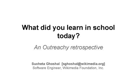 What Did I Lerned From The Mba Program by Outreach