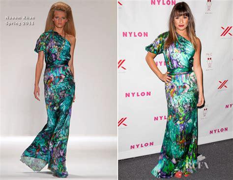Catwalk To Carpet Naeem Khan Carpet Style Awards 2 by Lea Michele In Naeem Khan S September Tv Issue