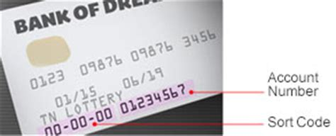 sort code on a bank card direct debit the national lottery