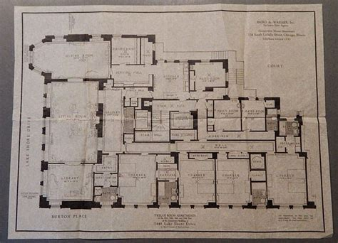 chicago apartment floor plans floorplan of frances glessner lee s apartment at 1448 lake