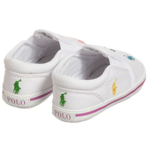 ralph baby shoes ralph white canvas baby shoes childrensalon