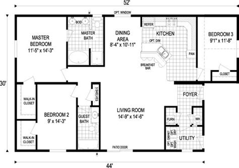 1500 square house plans small house floor plans 1000 to 1500 sq ft 1 000 1 500 sq ft floor plan 1 440