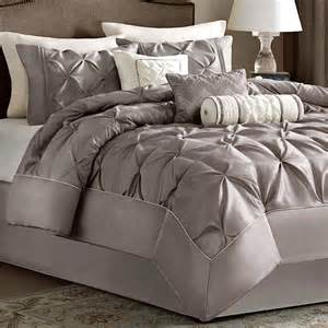 Comforter Sets For Beds Piedmont Taupe 7 Pc Comforter Bed Set