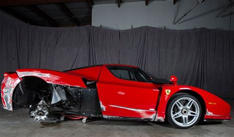 Crashed Ferrari Enzo by Bargain Ferrari Enzo For Sale May Need Some Minor Buffing