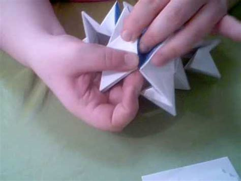 Origami Transforming Spiky - how to make a puzzle spike doovi