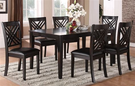 espresso dining room sets brooklyn dark espresso 7 piece dining room set 18762