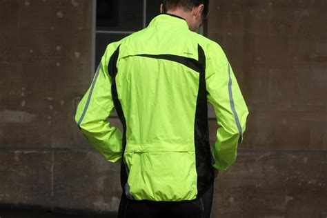 high visibility waterproof cycling jacket review b 500 high visibility waterproof cycling