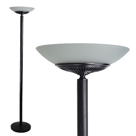 Led Uplighter Floor L Led Floor Standing Energy Efficient Floor L Uplighter Torchiere Black Warm Ebay