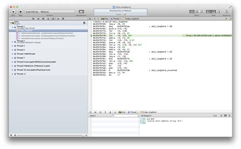 using lldb in ios objective objective c objc msgsend and exc bad access in cocoa