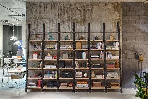 unique shelving ideas a modern office space that looks like an urban loft