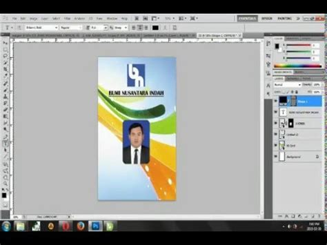 tutorial membuat id card dengan photoshop tutorial photoshop membuat id card youtube