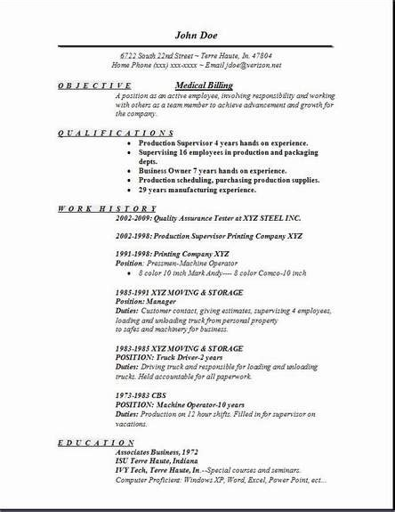 billing resume occupational exles sles free edit with word