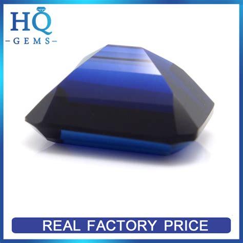 Blue Saphire Oktagon wholesale synthetic corundum 34 octagon created blue