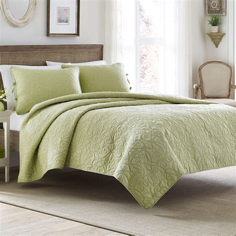 Bed Sheets And Quilts Felicity Light Green Quilt Set From