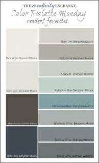 interior color palettes readers favorite paint colors color palette monday