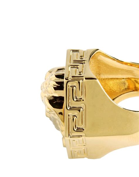 versace ring in gold for lyst