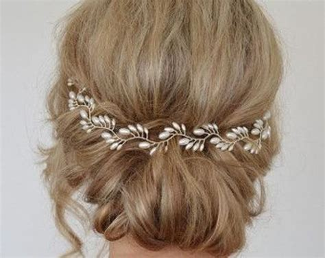 Hair Accessories For Wedding Updos by Bridal Headpiece Bridal Halo For Updo Hair Vine
